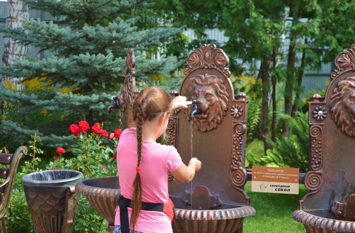 фонтан чугунный настенный свободный сокол