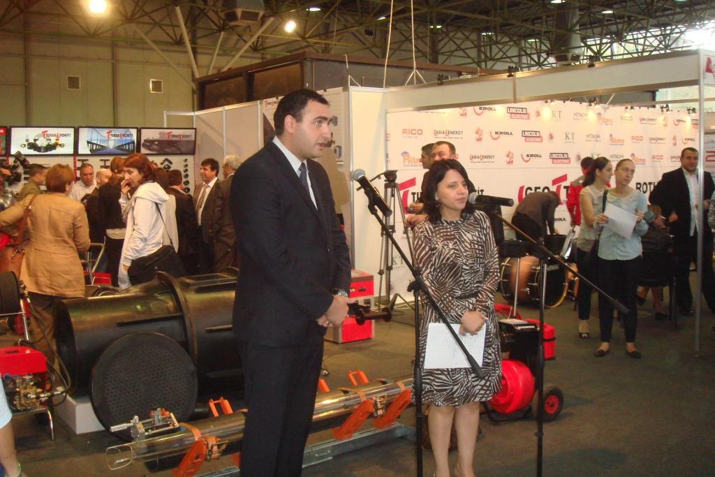Давид Гигинеишвили на открытии выставки АкваТерм Тбилиси 2014