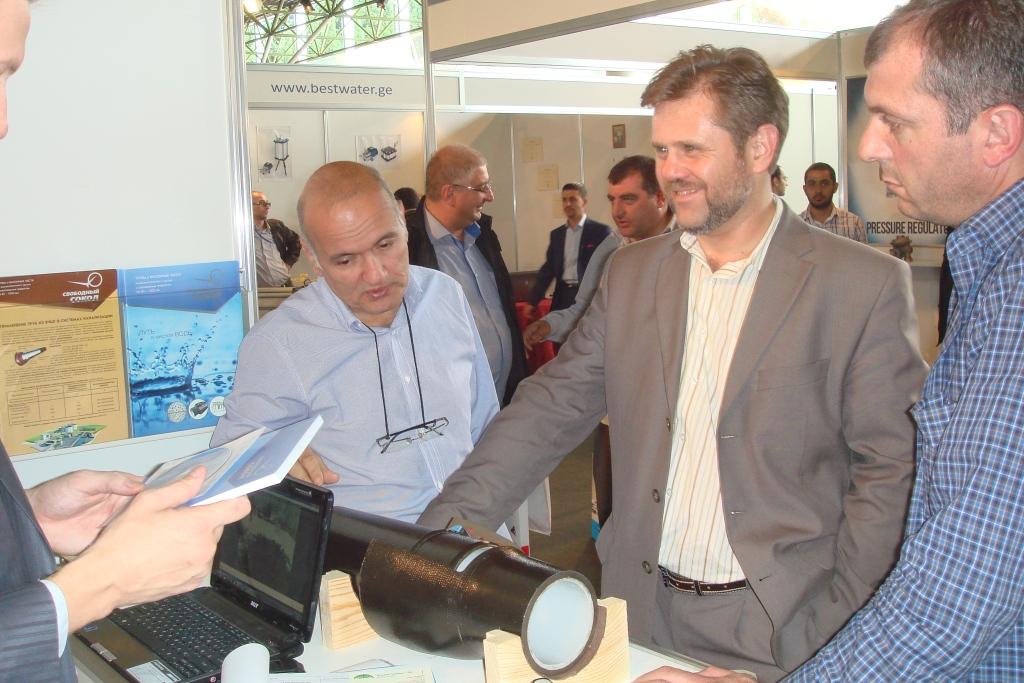 Алексей Фролов  и Заза Сихарулидзе на выставке АкваТерм Тбилиси 2014